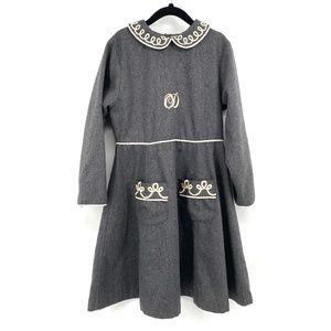 Christian Dior Vintage wool girls dress 6/8